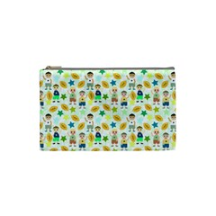 Football Kids Children Pattern Cosmetic Bag (small)  by Nexatart