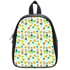 Football Kids Children Pattern School Bags (small)