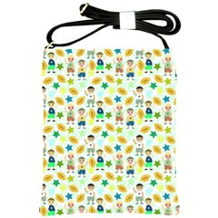 Football Kids Children Pattern Shoulder Sling Bags