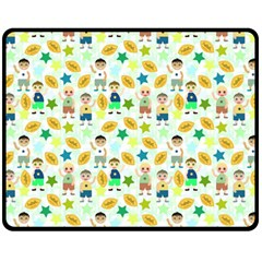 Football Kids Children Pattern Fleece Blanket (medium)  by Nexatart