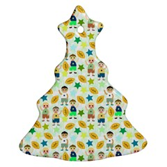Football Kids Children Pattern Ornament (christmas Tree)