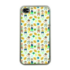 Football Kids Children Pattern Apple Iphone 4 Case (clear) by Nexatart