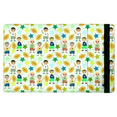 Football Kids Children Pattern Apple Ipad 3/4 Flip Case