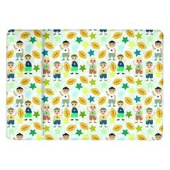 Football Kids Children Pattern Samsung Galaxy Tab 10 1  P7500 Flip Case by Nexatart