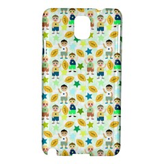 Football Kids Children Pattern Samsung Galaxy Note 3 N9005 Hardshell Case by Nexatart