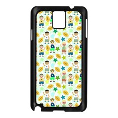 Football Kids Children Pattern Samsung Galaxy Note 3 N9005 Case (black) by Nexatart