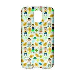 Football Kids Children Pattern Samsung Galaxy S5 Hardshell Case  by Nexatart