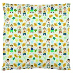 Football Kids Children Pattern Large Flano Cushion Case (two Sides) by Nexatart