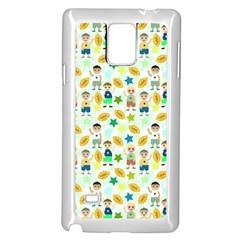 Football Kids Children Pattern Samsung Galaxy Note 4 Case (white) by Nexatart