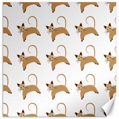 Cute Cats Seamless Wallpaper Background Pattern Canvas 16  X 16