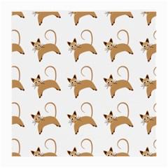 Cute Cats Seamless Wallpaper Background Pattern Medium Glasses Cloth (2 Side) by Nexatart