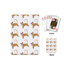 Cute Cats Seamless Wallpaper Background Pattern Playing Cards (mini)  by Nexatart