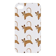 Cute Cats Seamless Wallpaper Background Pattern Apple Iphone 4/4s Hardshell Case by Nexatart