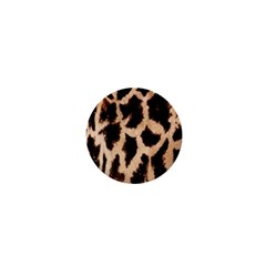 Yellow And Brown Spots On Giraffe Skin Texture 1  Mini Buttons by Nexatart