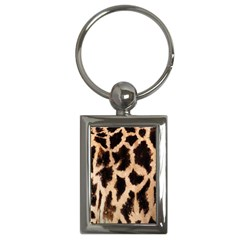 Yellow And Brown Spots On Giraffe Skin Texture Key Chains (rectangle)  by Nexatart