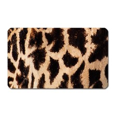 Yellow And Brown Spots On Giraffe Skin Texture Magnet (rectangular) by Nexatart