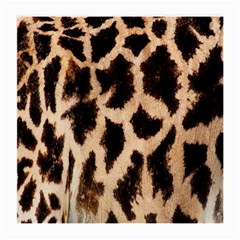 Yellow And Brown Spots On Giraffe Skin Texture Medium Glasses Cloth (2 Side)