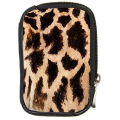 Yellow And Brown Spots On Giraffe Skin Texture Compact Camera Cases by Nexatart