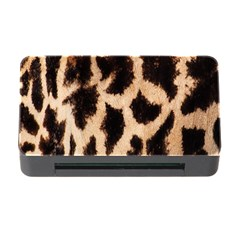 Yellow And Brown Spots On Giraffe Skin Texture Memory Card Reader With Cf by Nexatart