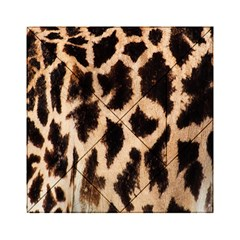 Yellow And Brown Spots On Giraffe Skin Texture Acrylic Tangram Puzzle (6  X 6 ) by Nexatart