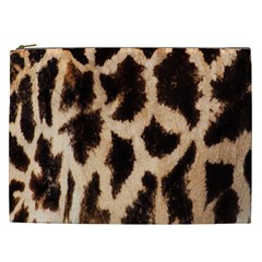 Yellow And Brown Spots On Giraffe Skin Texture Cosmetic Bag (xxl)  by Nexatart