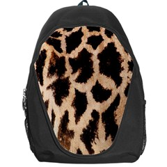 Yellow And Brown Spots On Giraffe Skin Texture Backpack Bag by Nexatart