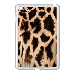 Yellow And Brown Spots On Giraffe Skin Texture Apple Ipad Mini Case (white) by Nexatart