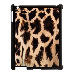 Yellow And Brown Spots On Giraffe Skin Texture Apple Ipad 3/4 Case (black)