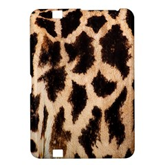 Yellow And Brown Spots On Giraffe Skin Texture Kindle Fire Hd 8 9  by Nexatart