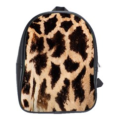 Yellow And Brown Spots On Giraffe Skin Texture School Bags (xl)  by Nexatart