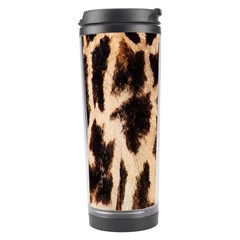 Yellow And Brown Spots On Giraffe Skin Texture Travel Tumbler