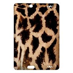 Yellow And Brown Spots On Giraffe Skin Texture Amazon Kindle Fire Hd (2013) Hardshell Case by Nexatart