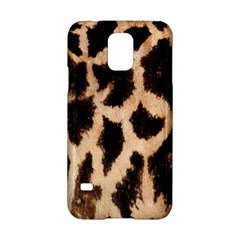 Yellow And Brown Spots On Giraffe Skin Texture Samsung Galaxy S5 Hardshell Case  by Nexatart