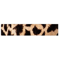 Yellow And Brown Spots On Giraffe Skin Texture Flano Scarf (small)