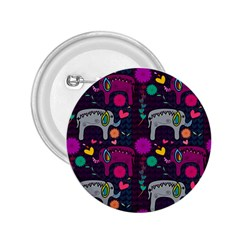 Love Colorful Elephants Background 2 25  Buttons