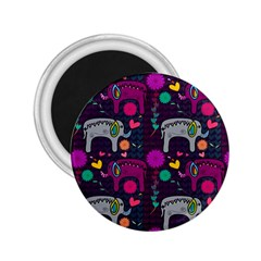 Love Colorful Elephants Background 2 25  Magnets by Nexatart