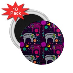 Love Colorful Elephants Background 2 25  Magnets (10 Pack)