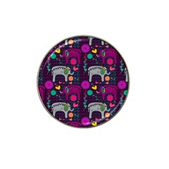 Love Colorful Elephants Background Hat Clip Ball Marker by Nexatart