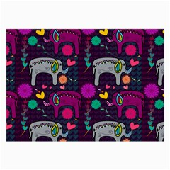 Love Colorful Elephants Background Large Glasses Cloth (2 Side)