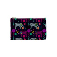 Love Colorful Elephants Background Cosmetic Bag (small)  by Nexatart