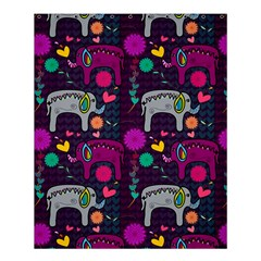 Love Colorful Elephants Background Shower Curtain 60  X 72  (medium)  by Nexatart