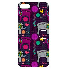 Love Colorful Elephants Background Apple Iphone 5 Hardshell Case With Stand by Nexatart
