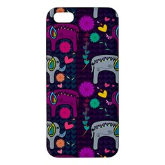 Love Colorful Elephants Background Apple Iphone 5 Premium Hardshell Case