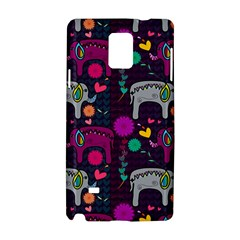 Love Colorful Elephants Background Samsung Galaxy Note 4 Hardshell Case