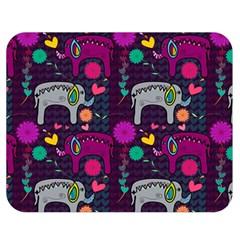 Love Colorful Elephants Background Double Sided Flano Blanket (medium)  by Nexatart