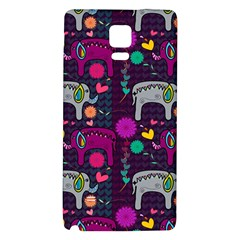 Love Colorful Elephants Background Galaxy Note 4 Back Case by Nexatart