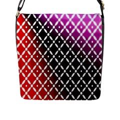 Flowers Digital Pattern Summer Woods Art Shapes Flap Messenger Bag (l)