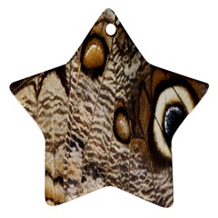 Butterfly Wing Detail Star Ornament (two Sides) by Nexatart