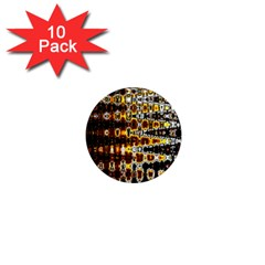 Bright Yellow And Black Abstract 1  Mini Magnet (10 Pack)
