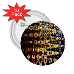 Bright Yellow And Black Abstract 2 25  Buttons (10 Pack)
